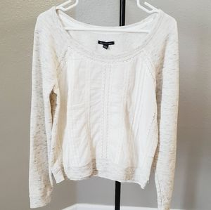 American Eagle Outfitters Eyelet Sweater Size M
